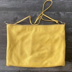 Yellow Coach Leather Crossbody